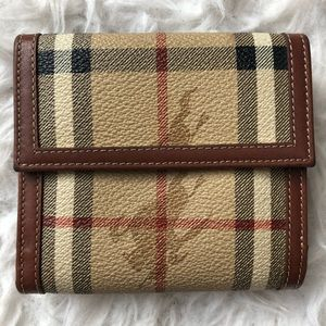 Burberry Check Wallet with Equestrian Knight